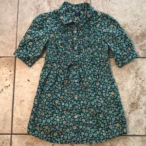 Girls Gap Dress Size 3T Floral With Tie Waist